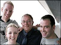 From left to right: Bjørn Wenner, Rebecca Durrant, Pete Conway and Peter Caruana