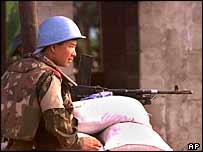 UN peacekeeper in Sierra Leone