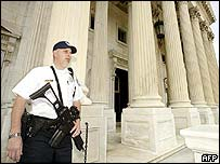 Armed guard in Washington