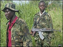 Hema Union of Congolese Patriots soldiers in Bunia, DR Congo