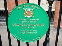 Memorial Plaque to George Africanus
