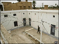 A British military prison in Basra