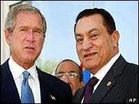 Bush and Mubarak