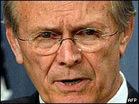 Donald Rumsfeld, the US defence secretary