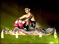 Prince Naseem Hamed loved to make flamboyant entrances to his fights