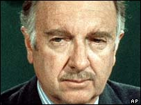 CBS News anchor Walter Cronkite in 1973