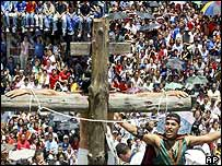 Good Friday Passion play in Medellin