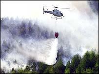 Blaze in Wattsville area of south Wales