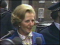 Entering Downing St in 1979