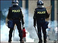 Riot Police at Evian