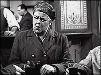 Ena Sharples, who was played by Violet Carson, in the first edition of the Street in 1960
