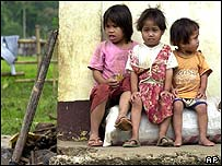 Young refugees in Mindanao, southern Philippines