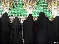 Shia women at Hussein's grave