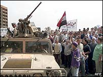 Anti-US protest in Baghdad, 19 Apr 03