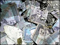 Iraqi bank notes
