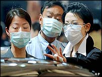People wearing protective masks, Shanghai, China
