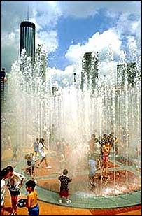 Atlanta's Centennial Olympic Parc, designed by EDAW
