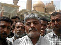 Men at Kadhimiya mosque