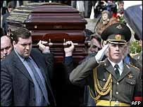 Yushenkov's coffin
