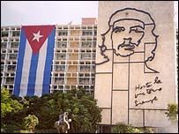 Che Guevara image in Havana