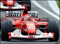 Reigning champion Michael Schumacher