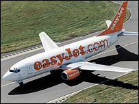 Easyjet plane takes off