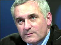 Irish Taoiseach Bertie Ahern