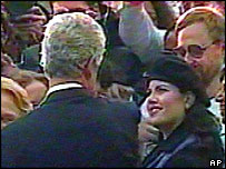 Bill Clinton and Monica Lewinsky - a rare photograph before the scandal broke