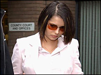 Cheryl Tweedy leaving court after a previous hearing