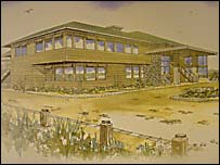 The planned clubhouse