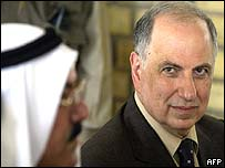 Ahmed Chalabi meets with Iraqi tribal leaders in Baghdad on Friday