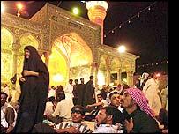 Muslims gathered at vigil