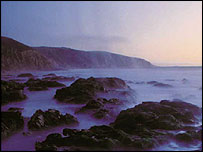 Californian beach at dusk   Pew Oceans Commission