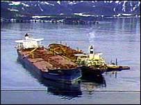 Exxon Valdez offloads oil   BBC