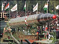 India's nuclear-capable Agni II missile