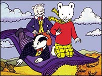 Rupert the Bear and friends