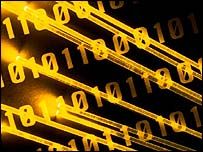 Fibre optics and binary code, Eyewire