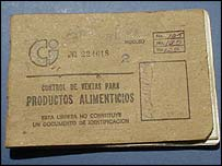 Cuban ration book