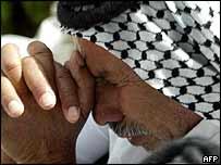 Shia Muslim at prayer in Karbala