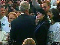 File picture of Clinton and Lewinsky