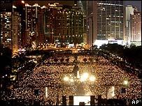 The candlelight vigil