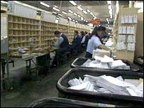 mail sorting office