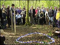 The ceremony to unveil a memorial honouring children in the Bristol heart babies scandal