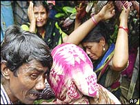A Bangladeshi family mourns the death of their relatives