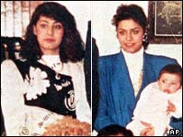 Rana and Raghad Hussein pictured in 1990