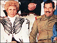 Sajida and Saddam Hussein