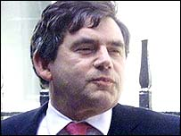 Gordon Brown arriving for the Cabinet meeting