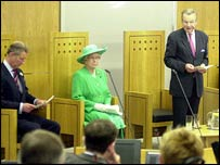The Queen and Prince Charles at the Welsh assembly