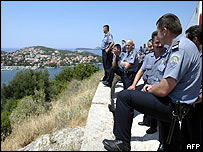 Police near Dubrovnik