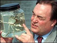 John Prescott and a crab